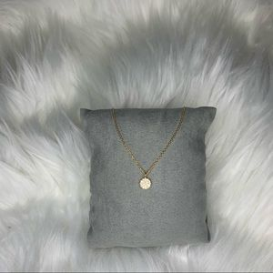 14k filled necklace with circle pendant